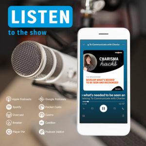 Podcast Cover image Charisma Hacks with Ulrike Seminati